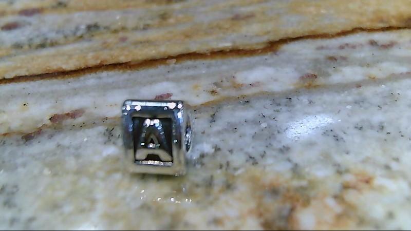 pandora sterlling silver initial A charm