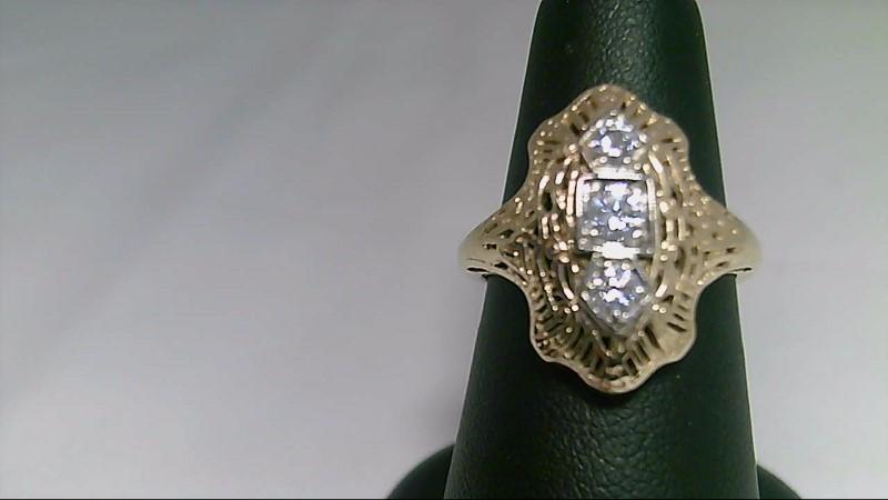 Antique Round Diamond Fashion Ring 14K YG Ring