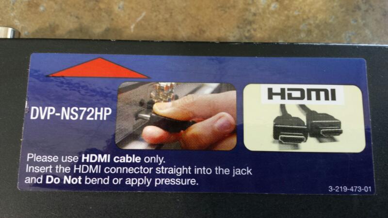 SONY DVD Player DVP-NS72HP