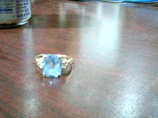 Blue Stone Lady's Stone Ring 10K Yellow Gold 2g