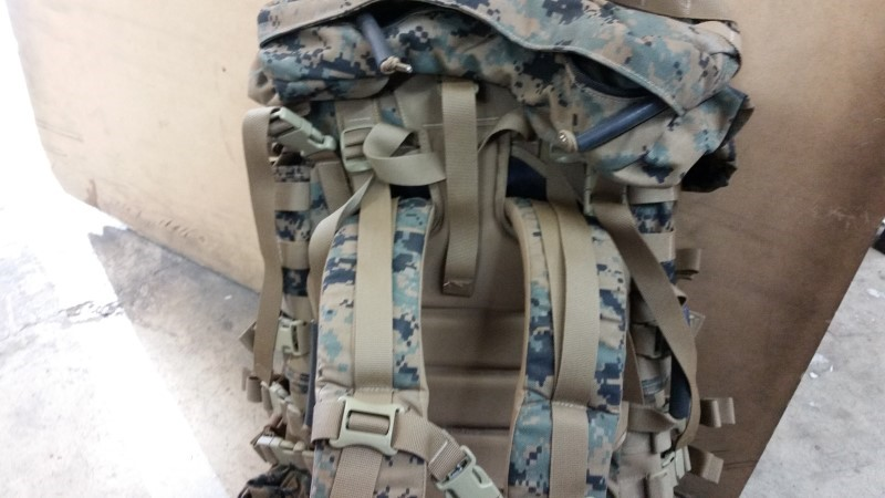 USMC Large ILBE Complete (APB03) Field Pack with Lid, Hip Belt,Hydration system
