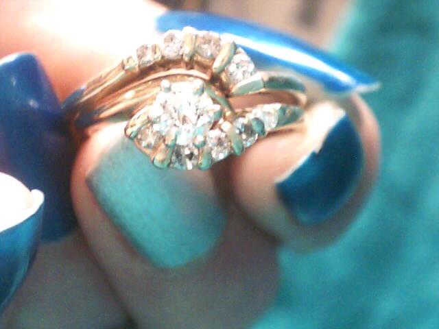 Lady's Diamond Wedding Set 10 Diamonds .40 Carat T.W. 14K Yellow Gold 2.4dwt