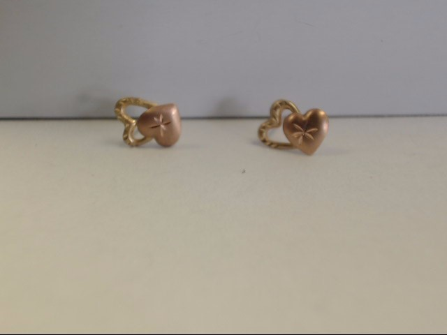 Gold Earrings 14K Yellow Gold 0.3g