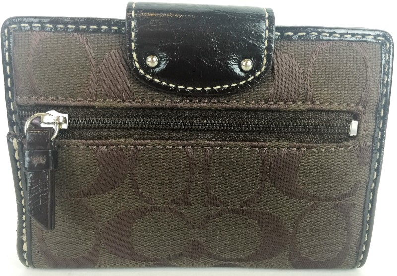 COACH SIGNATURE JACQUARD CLUTCH WALLET