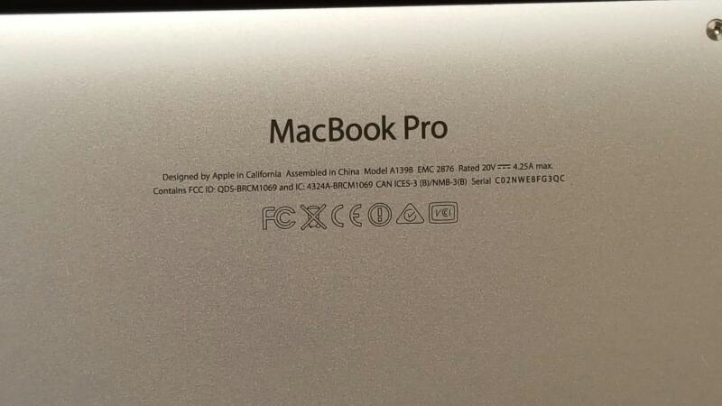 "Apple MacBook Pro Mid 2014, 15"", Core i7, 16GB Ram, macOS Sierra"