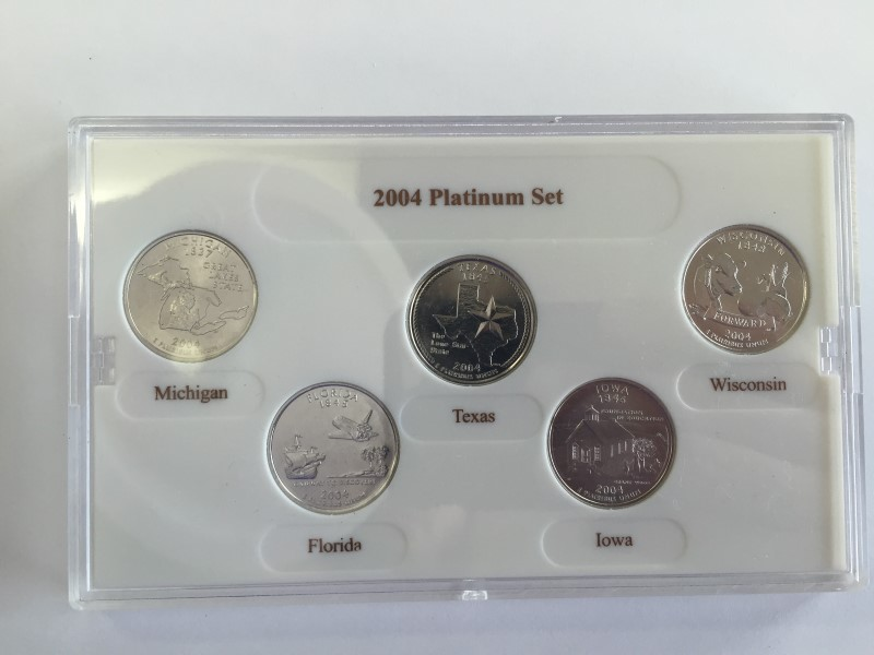 UNITED STATES PROOF SET 2004 PLATINUM EDITION STATE QUARTER COLLECTION