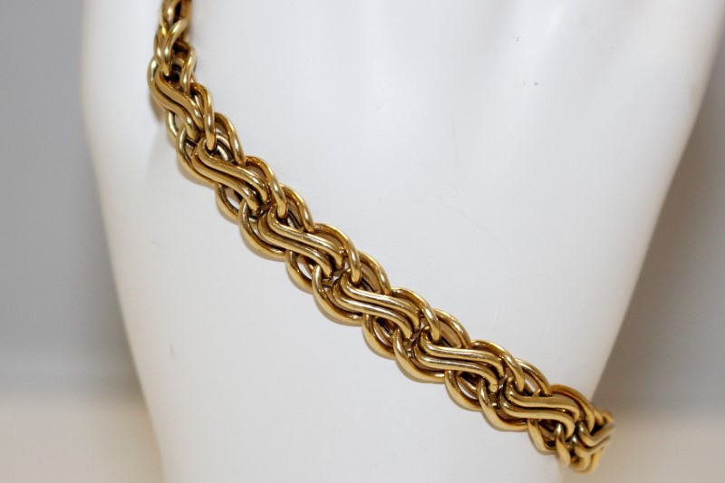 "7""GOLD LINK STYLE BRACELET 14K YELLOW GOLD 7.68g"