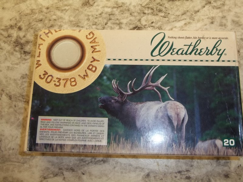 WEATHERBY Outdoor Sports 30-378 MAG AMMO
