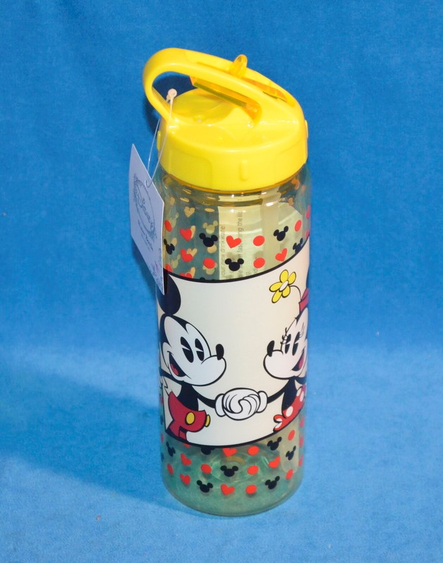 DISNEY MICKEY AND MINNIE YELLOW WATER BOTTLE