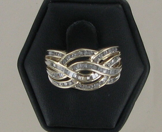 Lady's Diamond Fashion Ring 76 Diamonds .76 Carat T.W. 10K Yellow Gold 3.5dwt