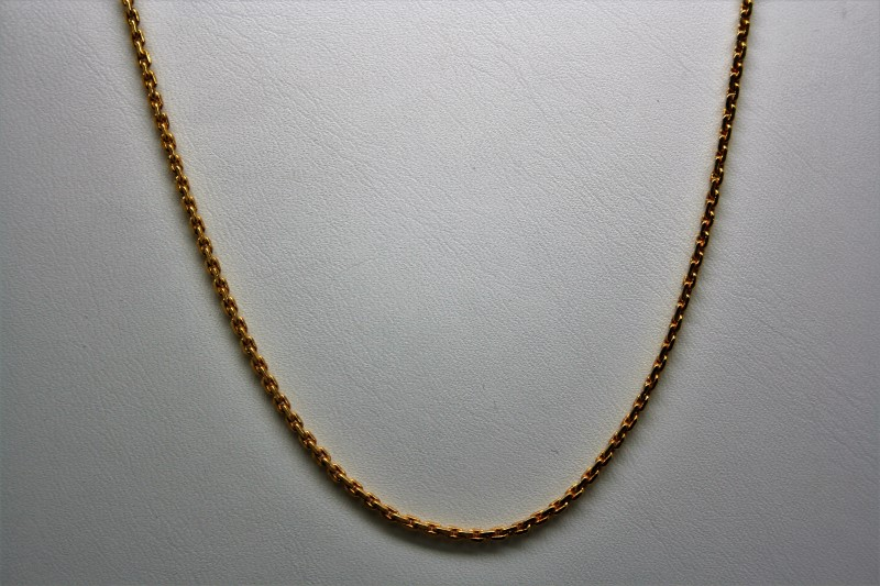 "22"" ANCHOR LINK CHAIN 22K YELLOW GOLD"