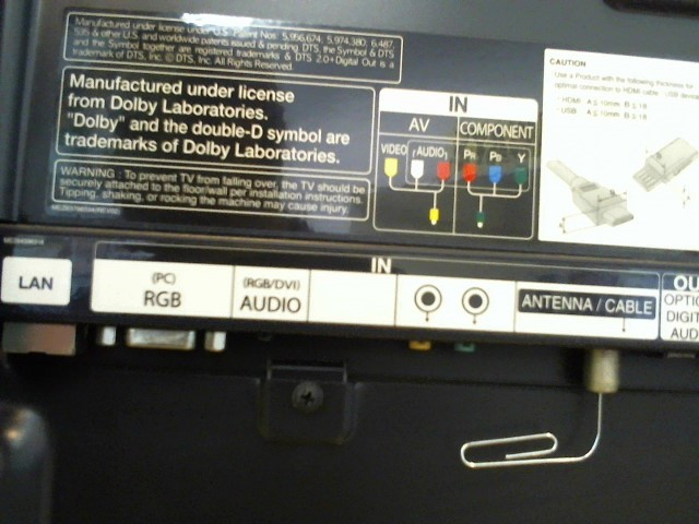 LG Flat Panel Television 47G2