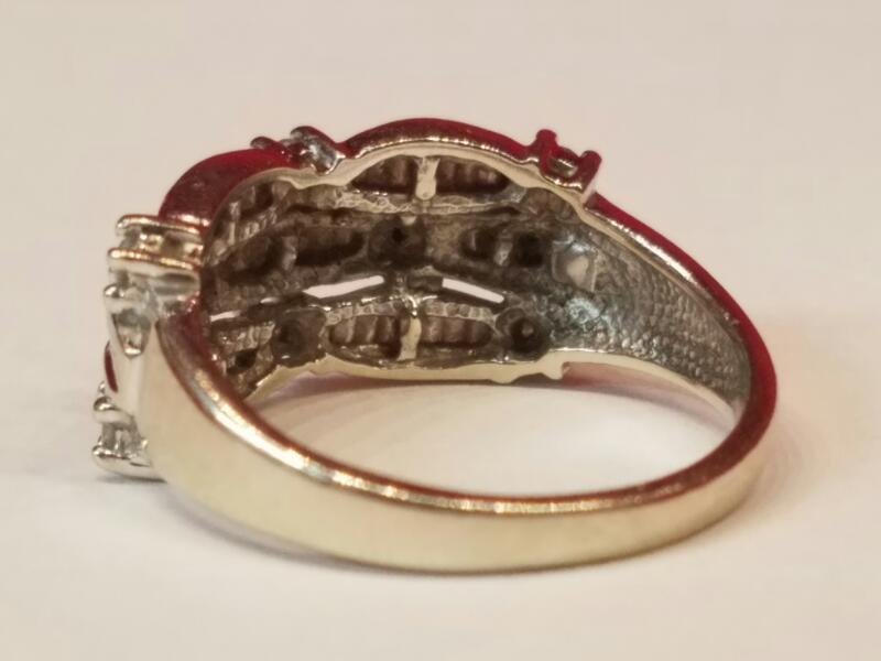 Lady's Diamond Cluster Ring 49 Diamonds .57 Carat T.W. 14K White Gold 4.3g