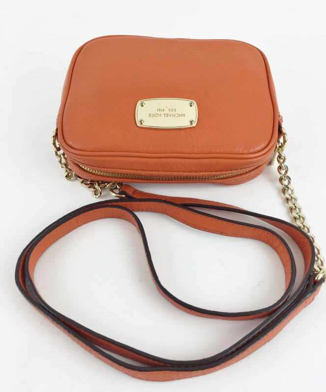 MICHAEL KORS HAMILTON LEATHER SMALL CROSSBODY SHOULDER BAG