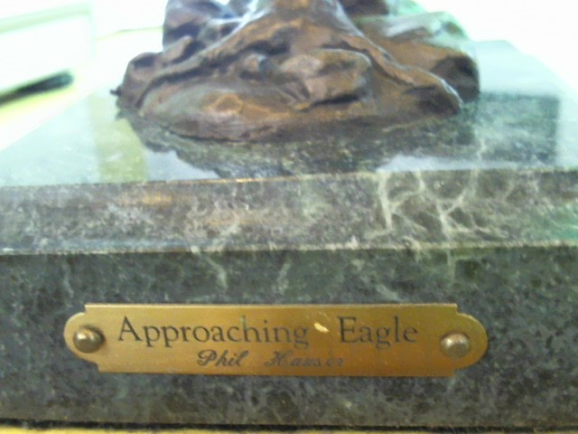 "PHIL HAUSER STATUES ""One of a kind"" APPROACHING EAGLE"
