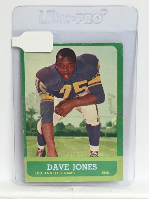 Vintage Topps 1963 Dave Jones #44 LA Rams Football Card