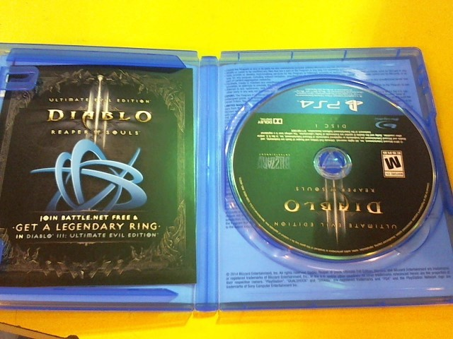 SONY Sony PlayStation 4 Game DIABLO III REAPER OF SOULS - PS4