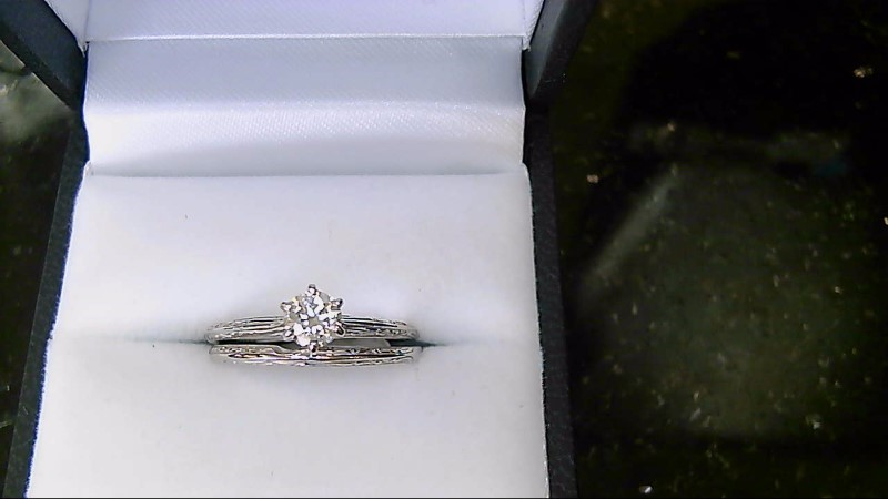 Lady's Diamond Wedding Set .36 CT. 14K White Gold 3.57g