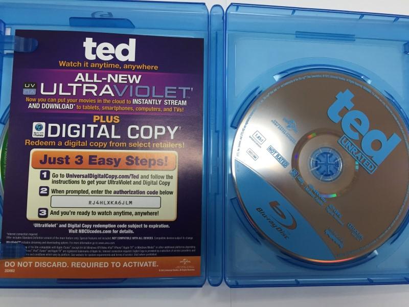 TED BLU-RAY DVD MOVIE