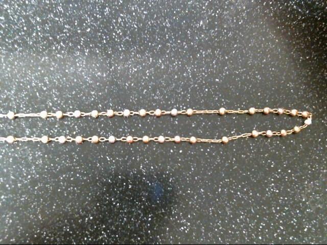 Gold Fashion Chain 14K Tri-color Gold 8.1g