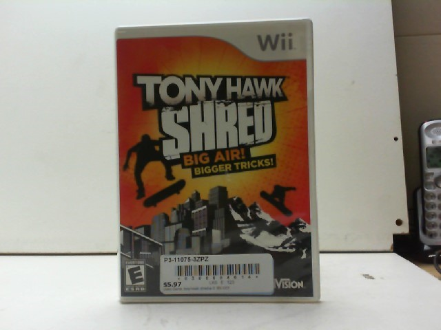 NINTENDO Nintendo Wii Game WII TONY HAWK SHRED