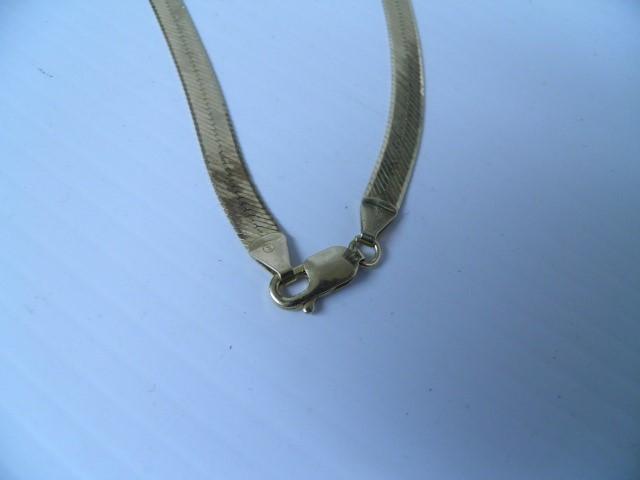 Gold Herringbone Chain 14K Yellow Gold 17.07g
