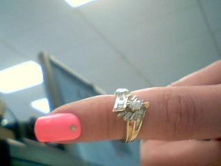 Lady's Diamond Engagement Ring 7 Diamonds .21 Carat T.W. 14K Yellow Gold 4.8g