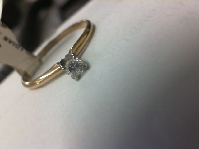 Lady's Diamond Solitaire Ring .20 CT. 14K White Gold 1.7g