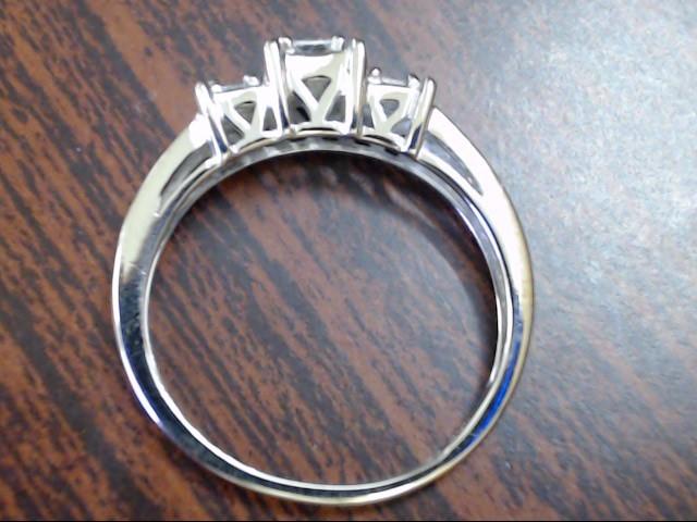 VINTAGE PRINCESS DIAMOND ENGAGE RING SOLID 14K WHITE GOLD SIZE 6.5