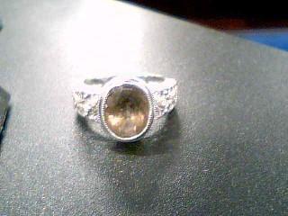 Brown Stone Lady's Stone & Diamond Ring 10 Diamonds .10 Carat T.W.