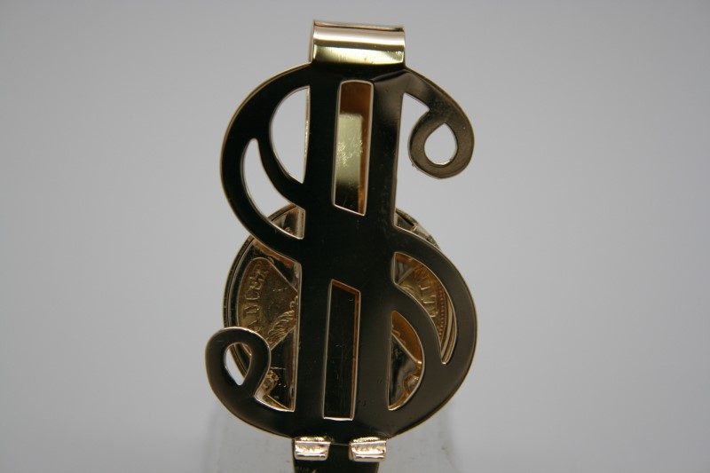 GOLD $ CLIP W/ $5 1901 GOLD COIN