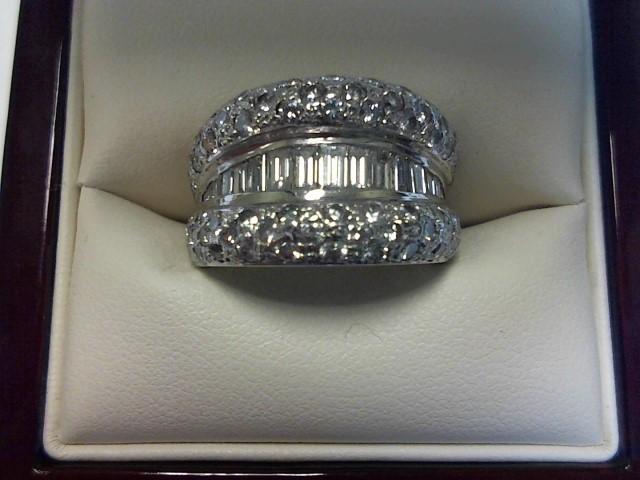 Lady's Gold-Diamond Anniversary Ring 83 Diamonds 2.20 Carat T.W. 14K White Gold