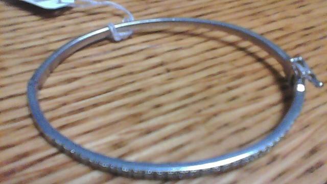 Silver-Diamond Bracelet 90 Diamonds .90 Carat T.W. 925 Silver 12g