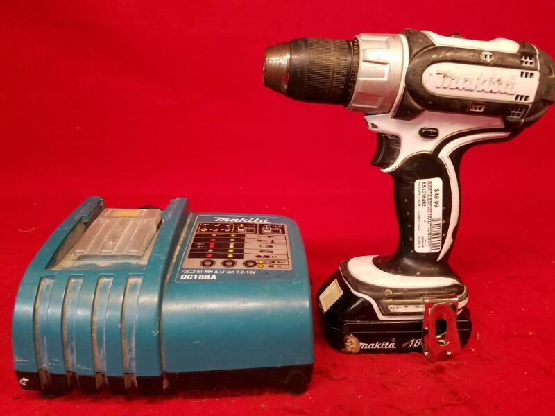 "Makita BDF452 18V Lithium-Ion 1/2"" 13mm Cordless Drill Driver 0-1500/min"