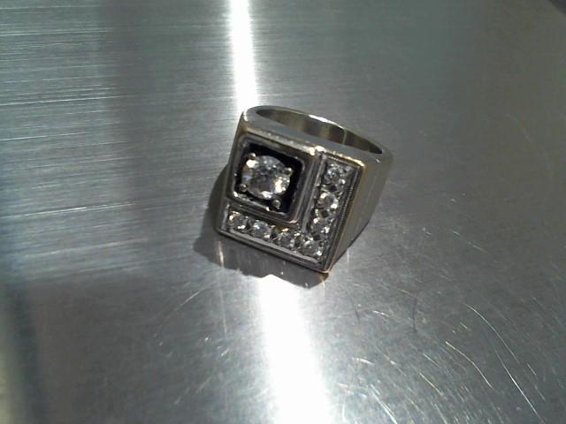 Gent's Diamond Cluster Ring 8 Diamonds 1.24 Carat T.W. 10K White Gold 16.9g