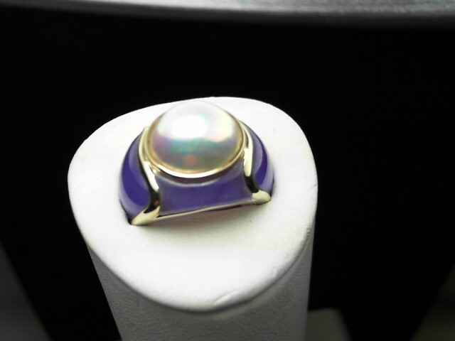 Purple Stone Lady's Stone Ring 14K Yellow Gold 8.1g