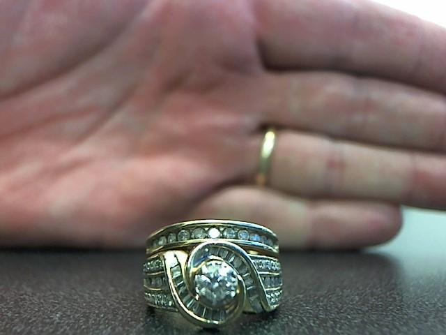 Lady's Diamond Wedding Set 57 Diamonds .69 Carat T.W. 10K Yellow Gold 8.1g