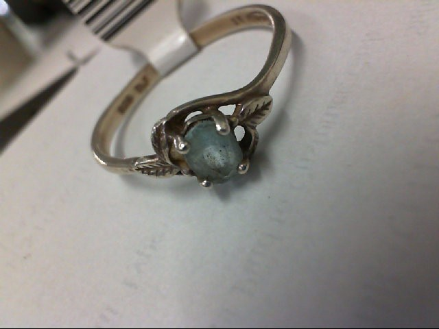 Blue Stone Lady's Silver & Stone Ring 925 Silver 2.2g