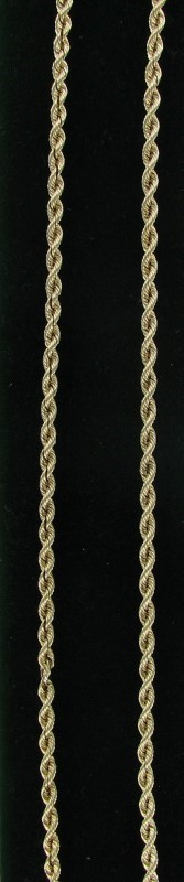 Gold Rope Chain 14K Yellow Gold 10.5dwt