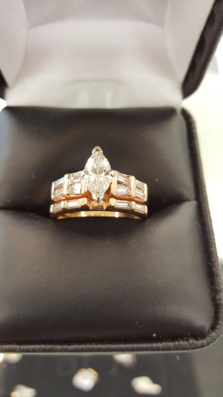 Lady's Diamond Engagement Ring 13 Diamonds 1.23 Carat T.W. 14K Yellow Gold 6.6g