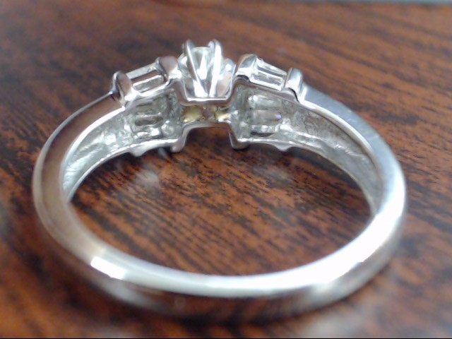 VINTAGE NATURAL DIAMOND ENGAGE WED RING SOLID PLATINUM 950 SIZE 7