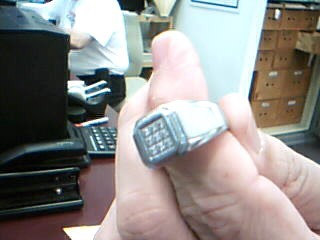 Gent's Diamond Ring 9 Diamonds .27 Carat T.W. Silver Stainless 11.78g