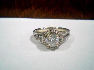 Lady's Diamond Cluster Ring 107 Diamonds 1.83 Carat T.W. 14K Yellow Gold 4.9g