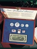 UNITED STATES Collection STAR STANGLE BANNER COIN AND STAMPS