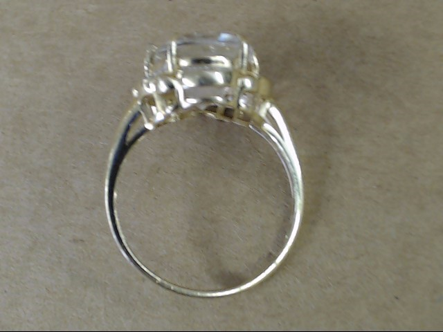 VINTAGE OVAL CUT COCKTAIL RING REAL SOLID 14K GOLD DIAMOND HALO SZ 8