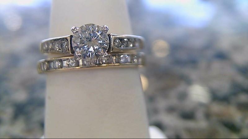 Lady's Diamond Wedding Set 16 Diamonds .65 Carat T.W. 14K Yellow Gold 3.6g