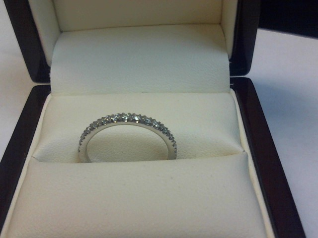Lady's Diamond Fashion Ring 17 Diamonds .17 Carat T.W. 14K White Gold 1.1dwt