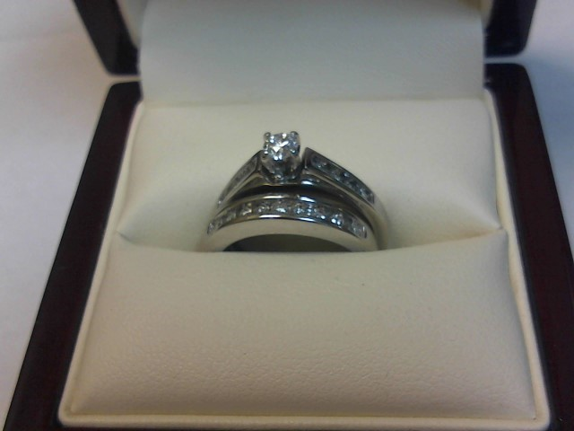 Lady's Diamond Wedding Set 17 Diamonds .47 Carat T.W. 14K White Gold 3.7dwt