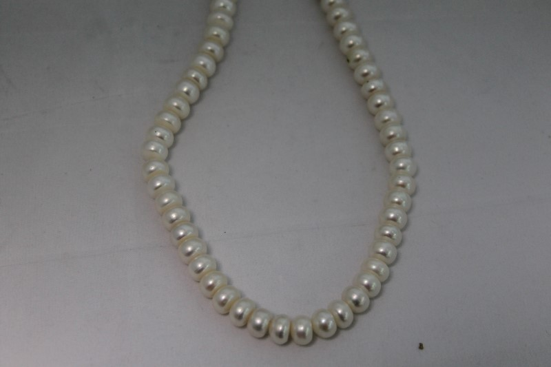 8.5mm White Baroque Pearl Necklace