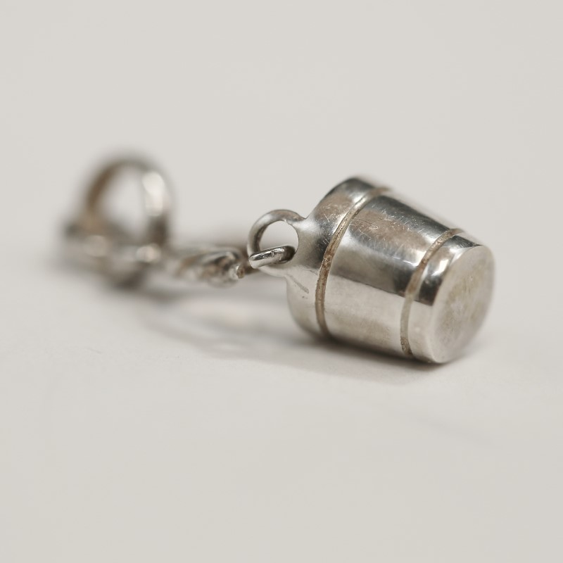 Sterling Silver Beach Pail and Shovel Pendant